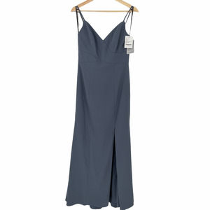 Dessy Bridesmaid Dress 3013 Silver Stone Size 8